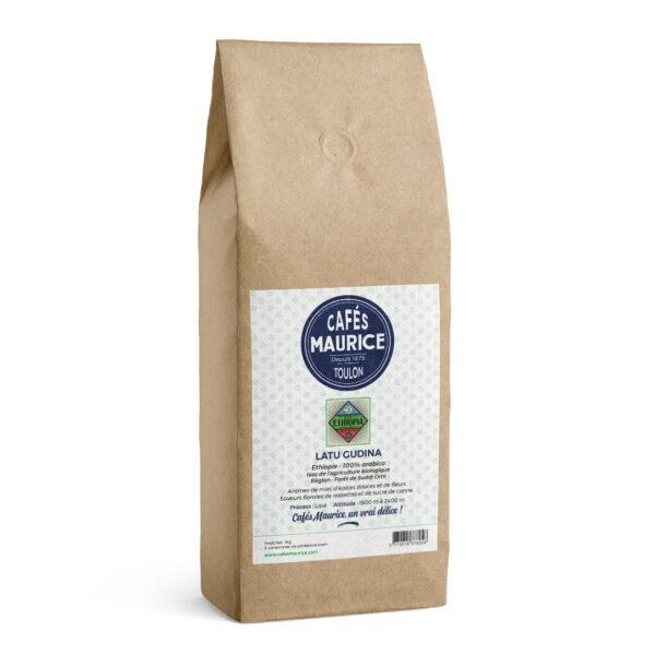 Café Latu Gudina Ethiopie 100 % arabica agriculture biologique Cafés Maurice