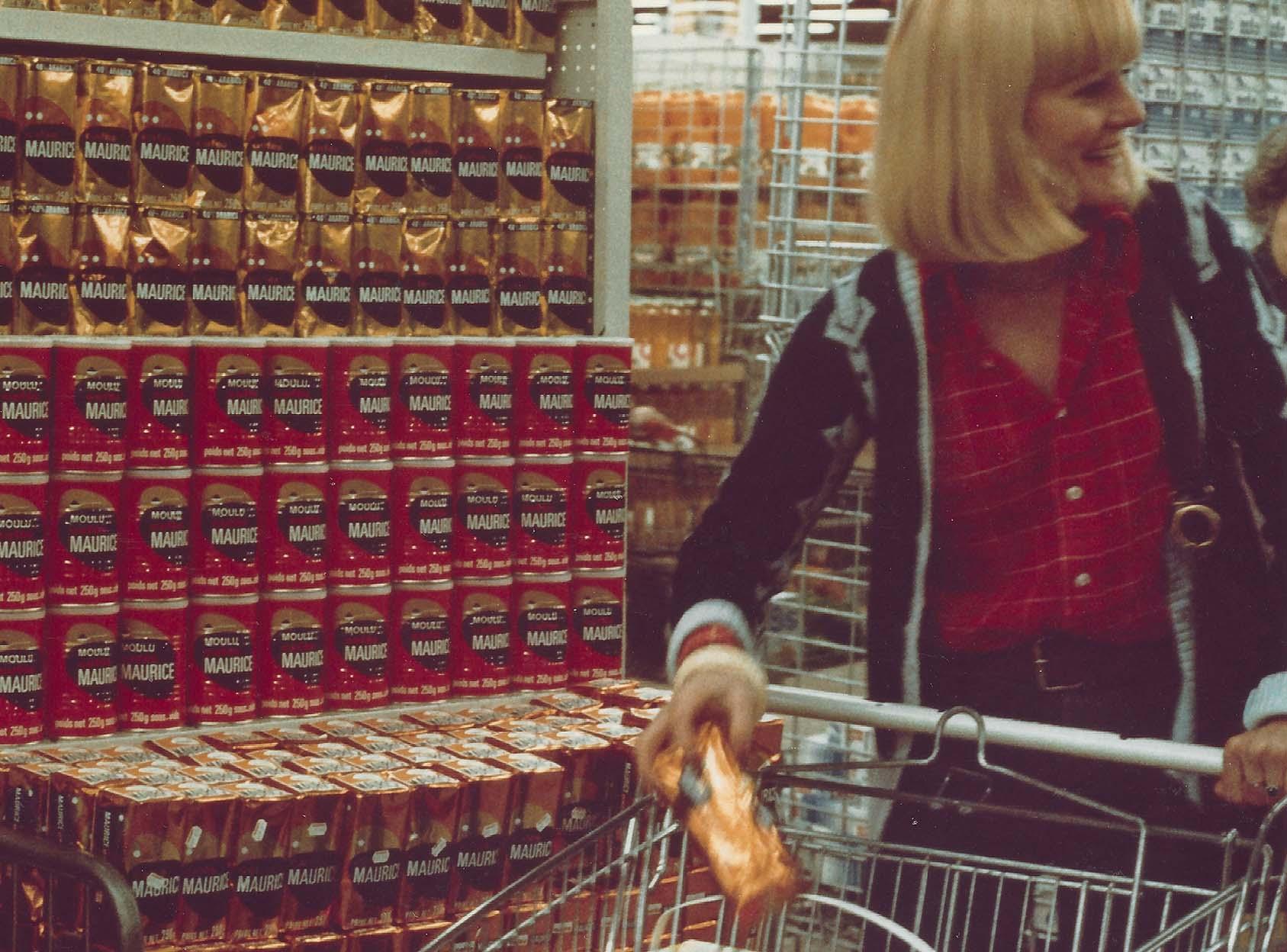 Cafés Maurice supermarché années 70