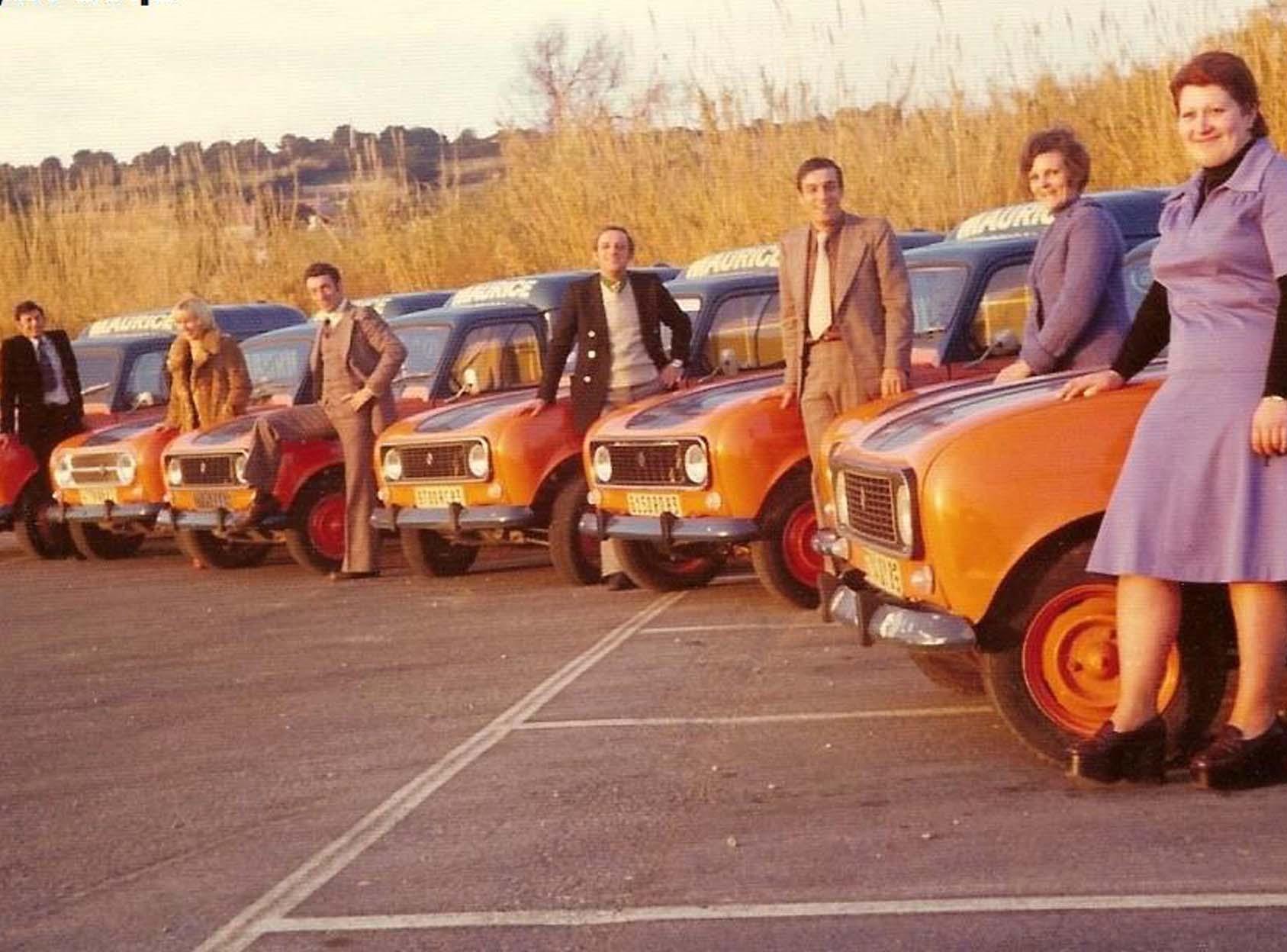La flotte de 4L des Cafés Maurice années 70
