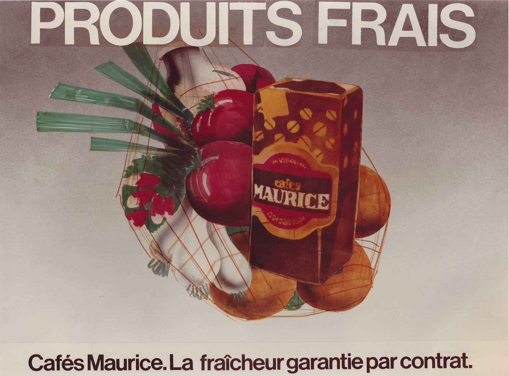 Campagne de publicité 1970 annonces Cafés Maurice