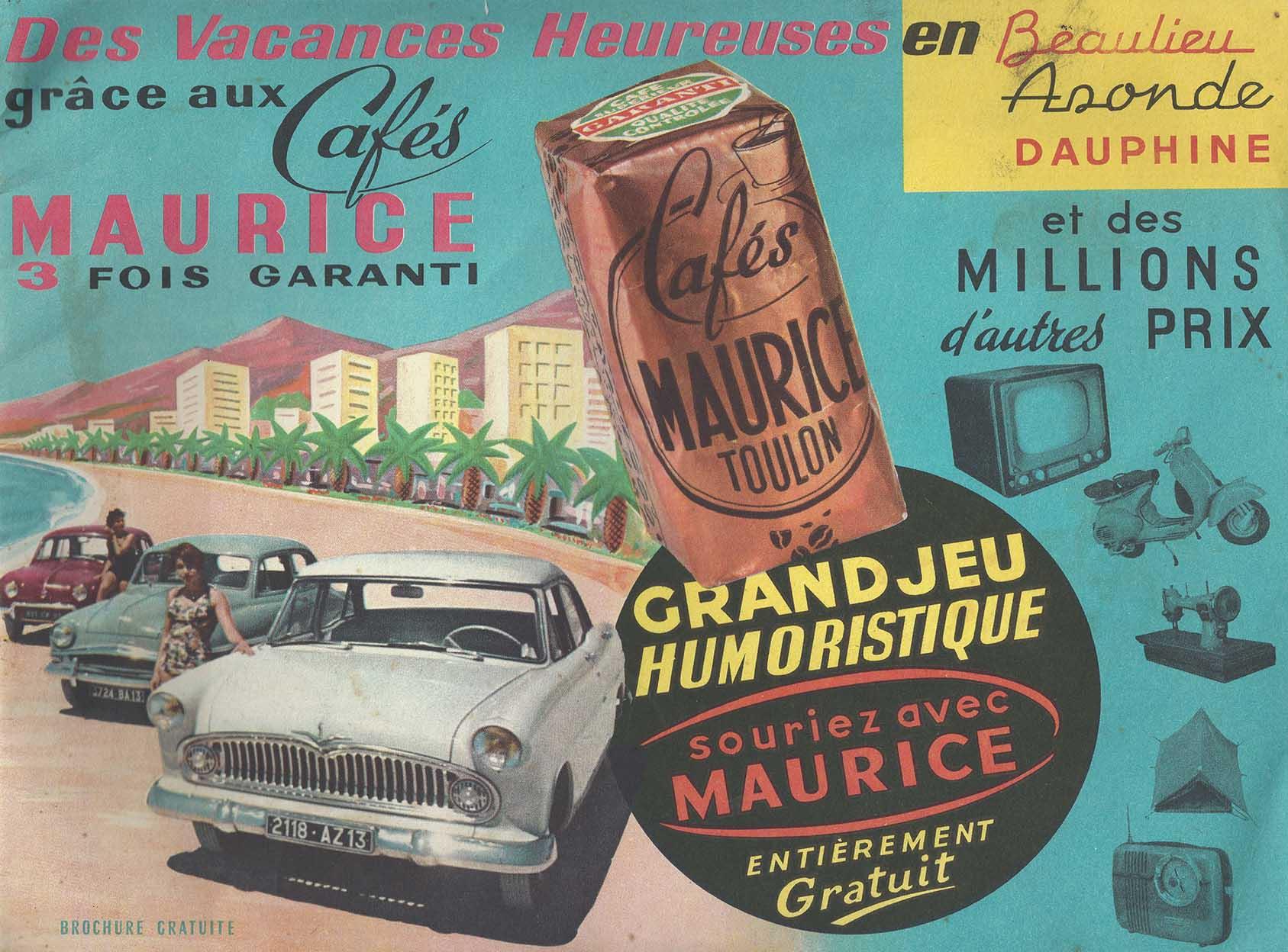 Grand jeu humoristique Cafés Maurice