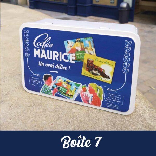 boîte à sucre en métal Cafés Maurice