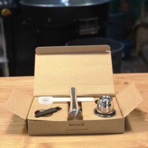 Nespresso boîte 1 capsule tasseur doseur pinceau Cafés Maurice