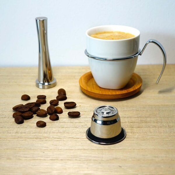 Nespresso boîte 2 capsules tasseur doseur pinceau Cafés Maurice