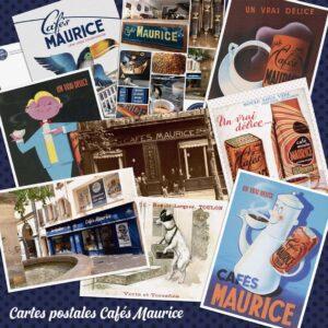 carte postale Cafés Maurice Toulon 83