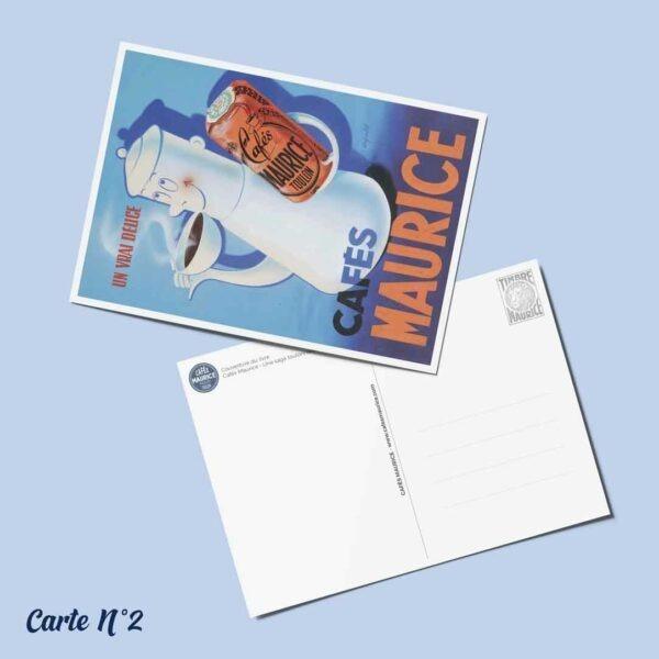 carte postale n°2 Cafés Maurice Toulon 83