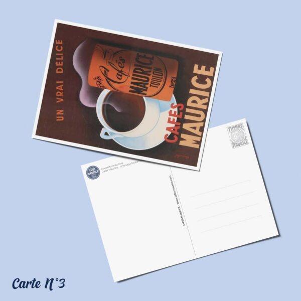carte postale n°3 Cafés Maurice Toulon 83