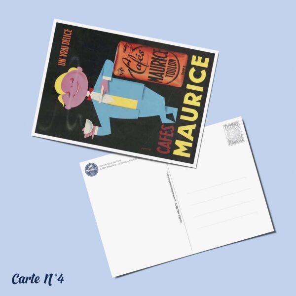 carte postale n°4 Cafés Maurice Toulon 83
