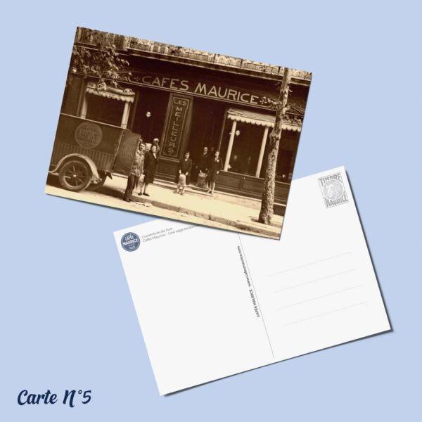 carte postale n°5 Cafés Maurice Toulon 83