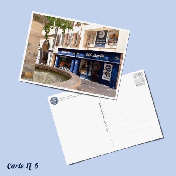 carte postale n°6 Cafés Maurice Toulon 83