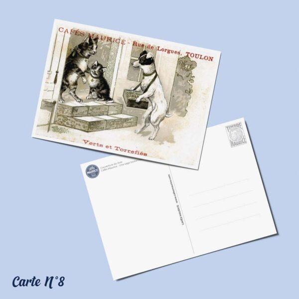 carte postale n°8 Cafés Maurice Toulon 83