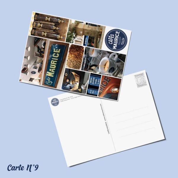 carte postale n°9 Cafés Maurice Toulon 83